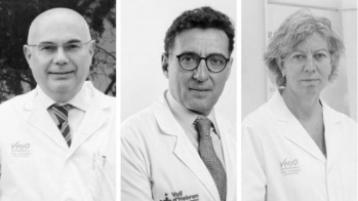 Dr Tabernero, Dr Montalbán and Dr Felip
