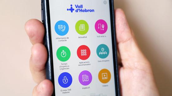 Aplicació mòbil Vall Hebron, per tots els pacients de l'Hospital.