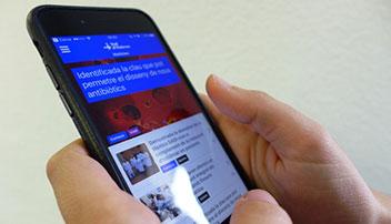 Aplicació mòbil per als professionals que treballen a Vall d'Hebron.