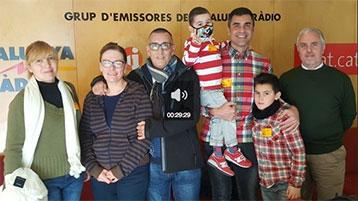 Un grup de pacients trasplantats als estudis de Catalunya Ràdio