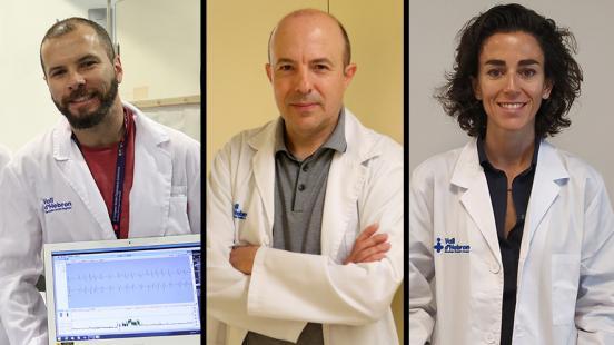 Dr. Jorge Pagola, Dr. Miquel Vila i Dra. Patricia Pozo Rosich