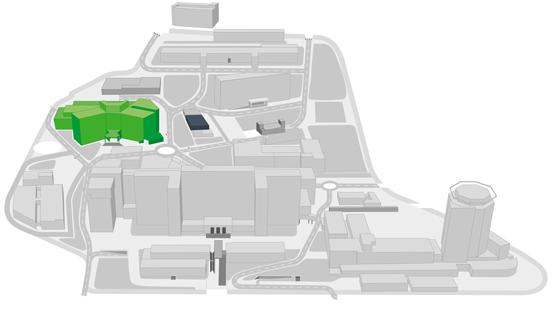 Mapa Hospital de Traumatologia, Rehabilitació i Cremats a Vall d'Hebron